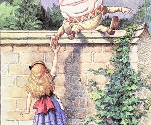 alice, alice in wonderland, and humpty dumpty image