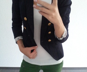 blazer, blue, and fashion image
