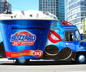 photography, blizzard, and Dairy Queen image