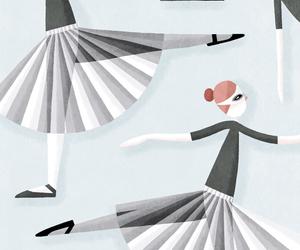 ballet, dancers, and illustration image