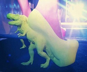 shoes, green, and dinosaur image