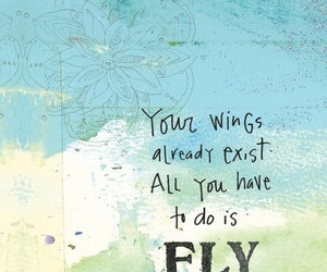 fly, quotes, and wings image