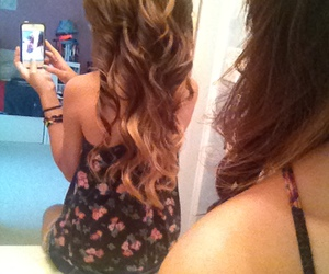curls, curly, and long hair image