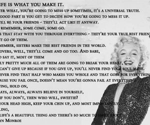 Marilyn Monroe This Life Is What You Make It Fabulous Quotes