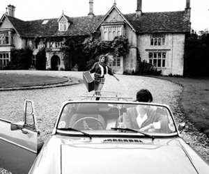 car, travel, and black and white image