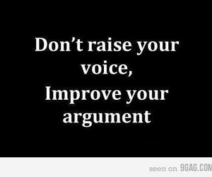 argument, quote, and voice image
