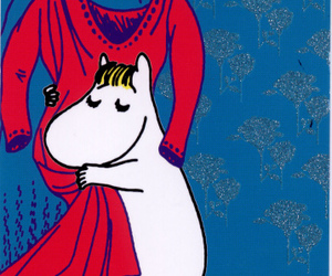 card, moomin, and postcrossing image