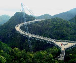 Malaysia and sky bridge in langkawi image
