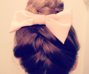 hair, cute, and bow image