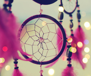 Dream, pink, and dreamcatcher image