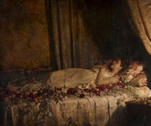 art, flowers, and death image
