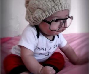 baby, glasses, and cute image