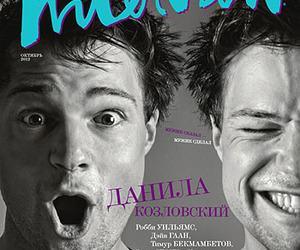 black and white, magazine, and cover image