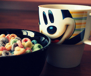 mickey, cereal, and food image