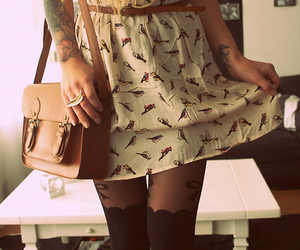 fashion, dress, and tattoo image