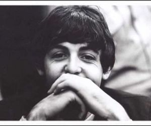 black and white, Paul McCartney, and smile image