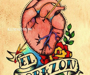 heart, tattoo, and love image