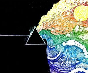 Pink Floyd, colors, and art image