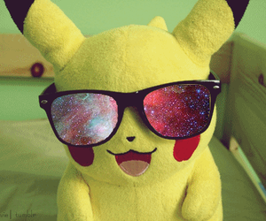 pikachu, galaxy, and pokemon image