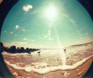 beach, beautiful, and fisheye image
