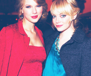 Taylor Swift and emma stone image