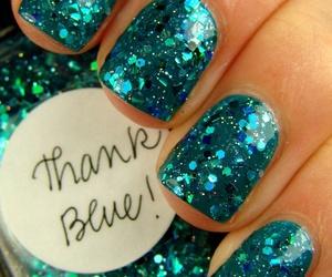 blue, glitter, and mermaid image