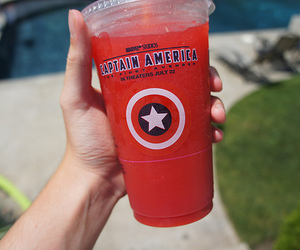 captain america, drink, and photography image