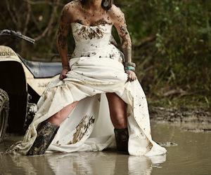 dress, girl, and mud image