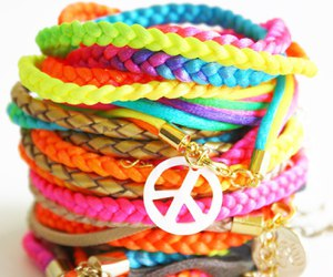 accessoires, peace, and rainbow image