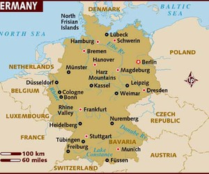 germany, political map, and maps image