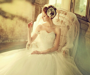 wedding dress, photography, and style image