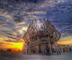 2010, Burning Man, and Temple image