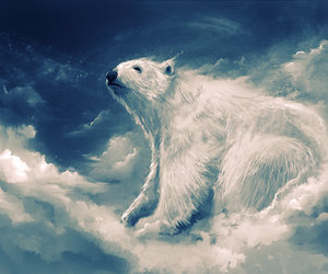 animal, clouds, and art image