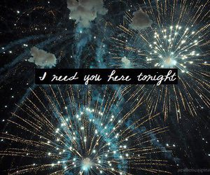 text, fireworks, and Lyrics image