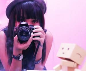 beautiful, black hair, and camera image