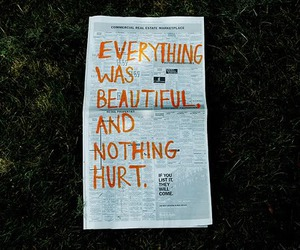 inspirational, newspaper, and everything was beautiful image