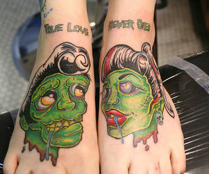 tattoo, zombie, and feet image