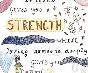love, quote, and strength image