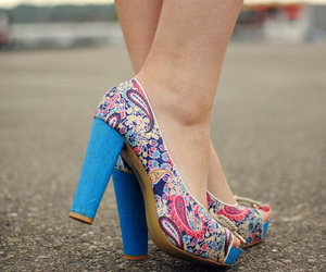 colourful, fashion, and high heels image