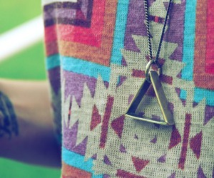 triangle, necklace, and tattoo image