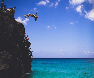 summer, beach, and cliff image