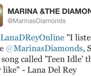 marina and the diamonds, tweet, and lana del rey image