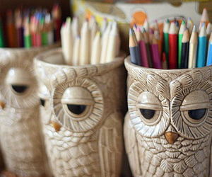 owl, pencil, and photography image
