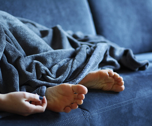 blanket, cold, and hand image