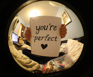 perfect, text, and you image