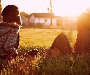 friends, girl, and sun image