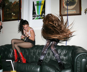 hair, party, and girl image