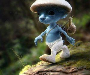 smurf, blue, and smurfs image