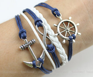 bracelet, accessories, and anchor image