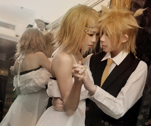 cosplay, kagamine rin, and kagamine ren image
